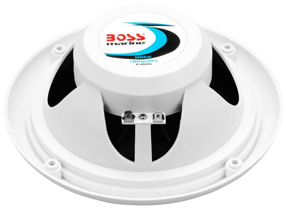 """Влагозащищенные динамики BOSS Audio Marine MR6W (6,5"""", 180 Вт.) белый (+ Антисептик-спрей для рук в подарок!)"""