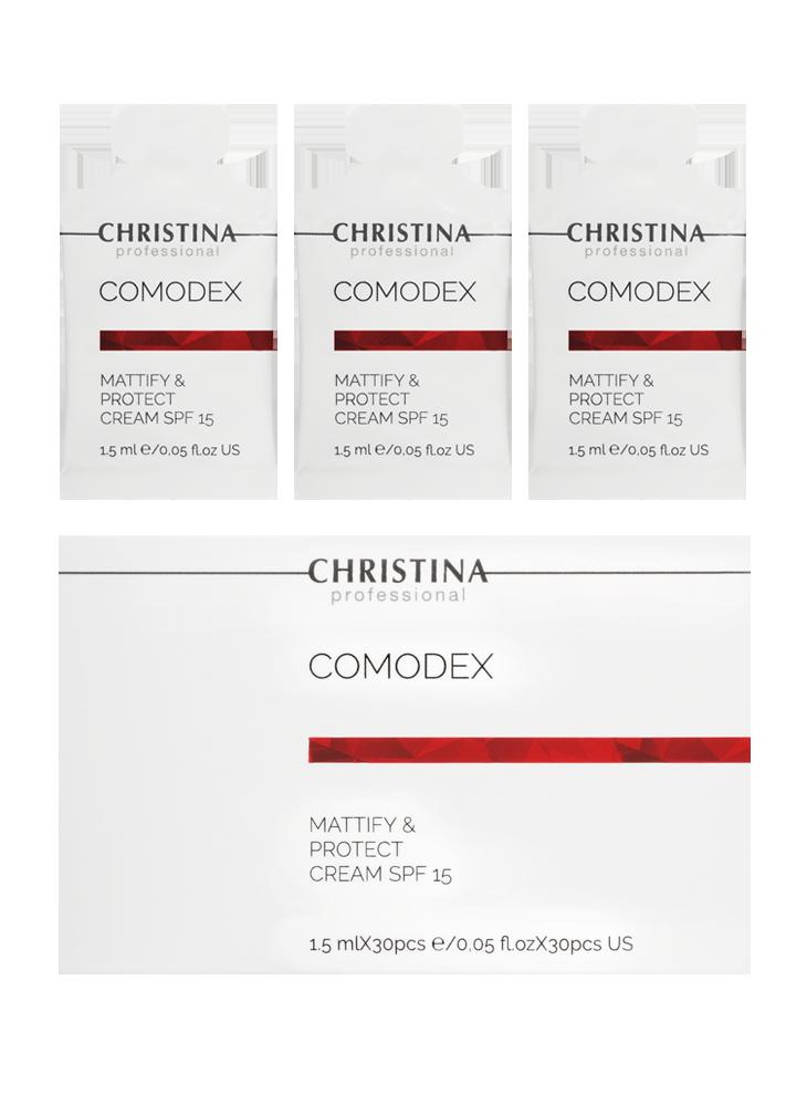 Comodex-Mattify&Protect Cream SPF-15 sachets kit 30 pcs