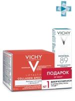 Vichy - Набор (Liftactiv Collagen Cpecialist Дневной крем-уход, 50 мл + Ежедневный гель-сыворотка Mineral 89, 10 мл), ..