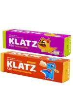 Klatz KIDS - Набор зубная пасты (Тутти-фрутти, 40 мл + Утренняя карамель, 40 мл), 1шт