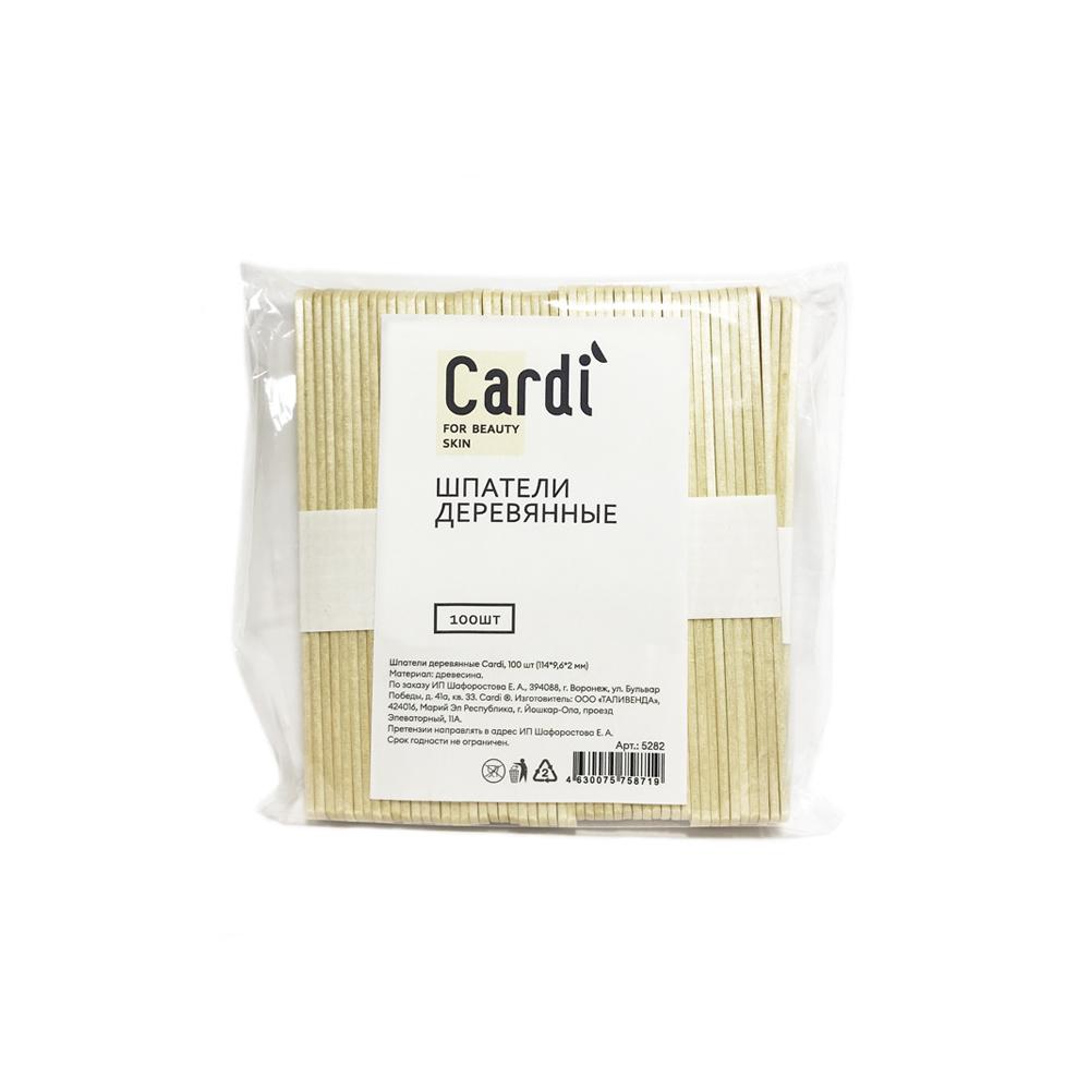Шпатель деревянные Cardi ,100 шт (114*9,6*2 мм) №5282
