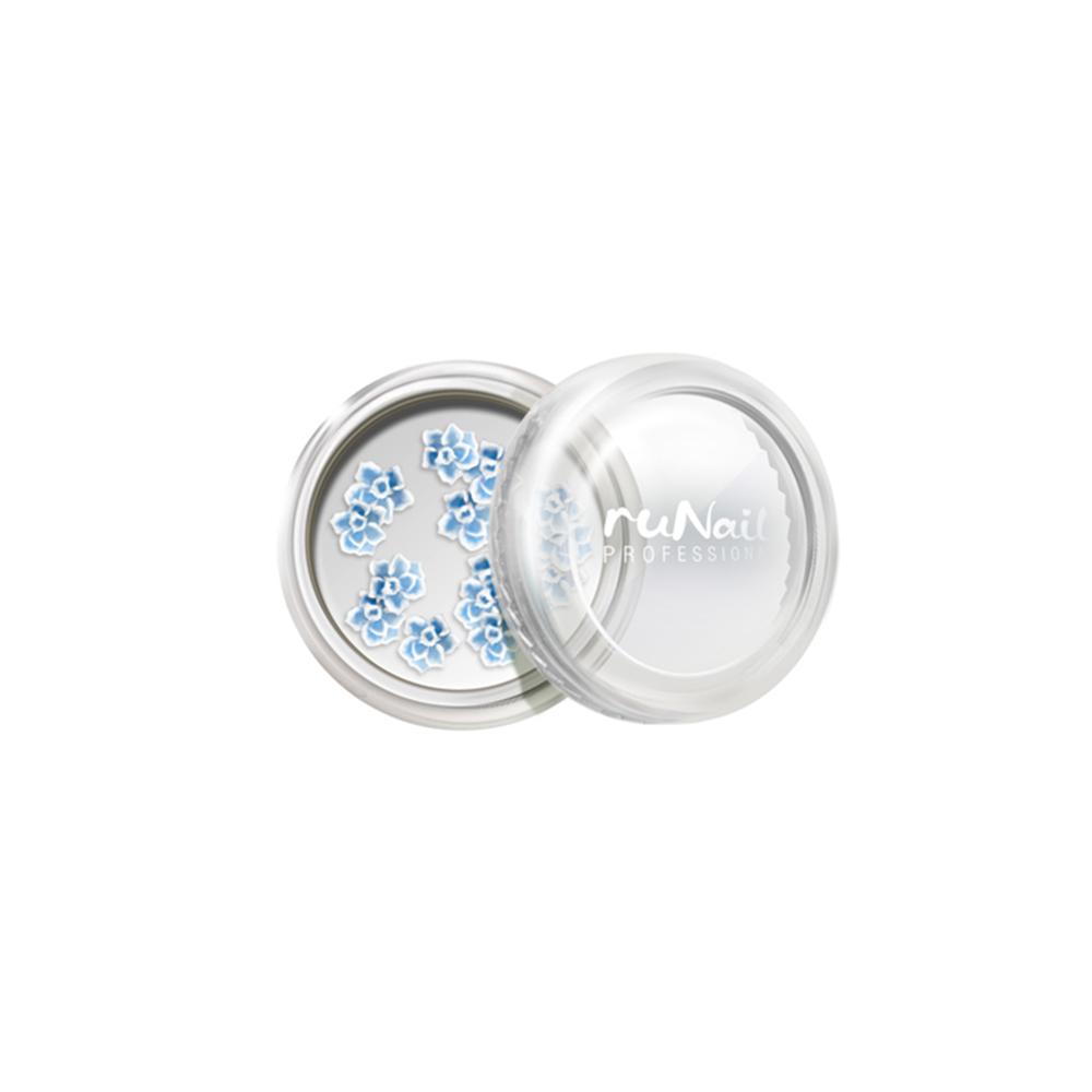 Дизайн для ногтей: резиновые аппликации (розы, цвет: голубой), 10 шт №2022
