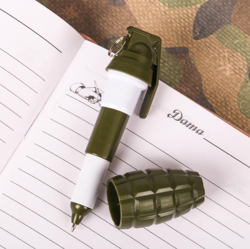 """Фигурная ручка-граната """"С 23 февраля"""" в коробочке"""