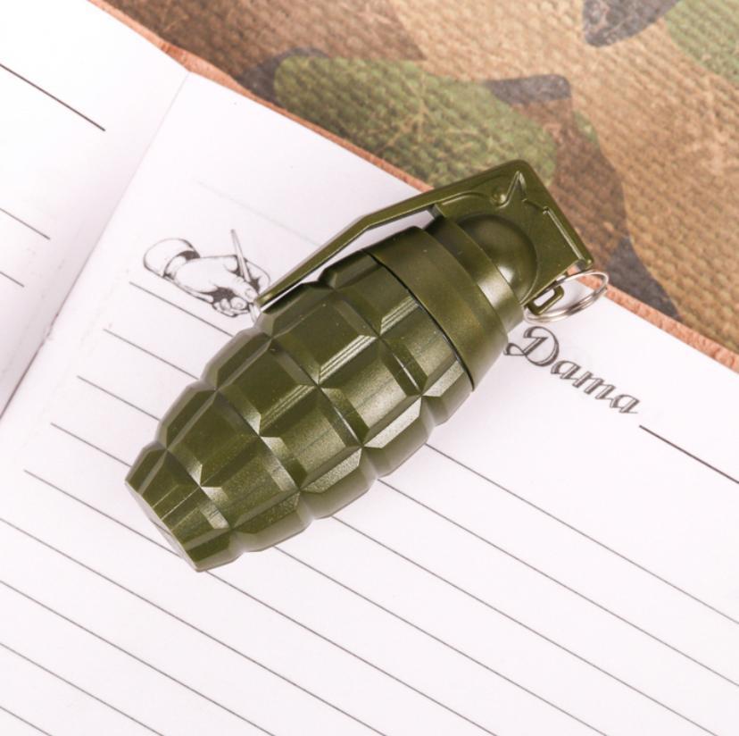 """Фигурная ручка граната """"Самому бесстрашному""""  в коробочке на 23 февраля"""