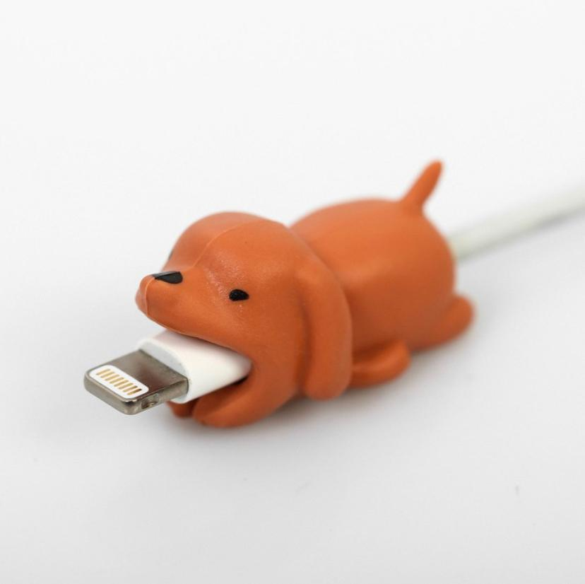 Протектор для провода с пожеланием Пёс