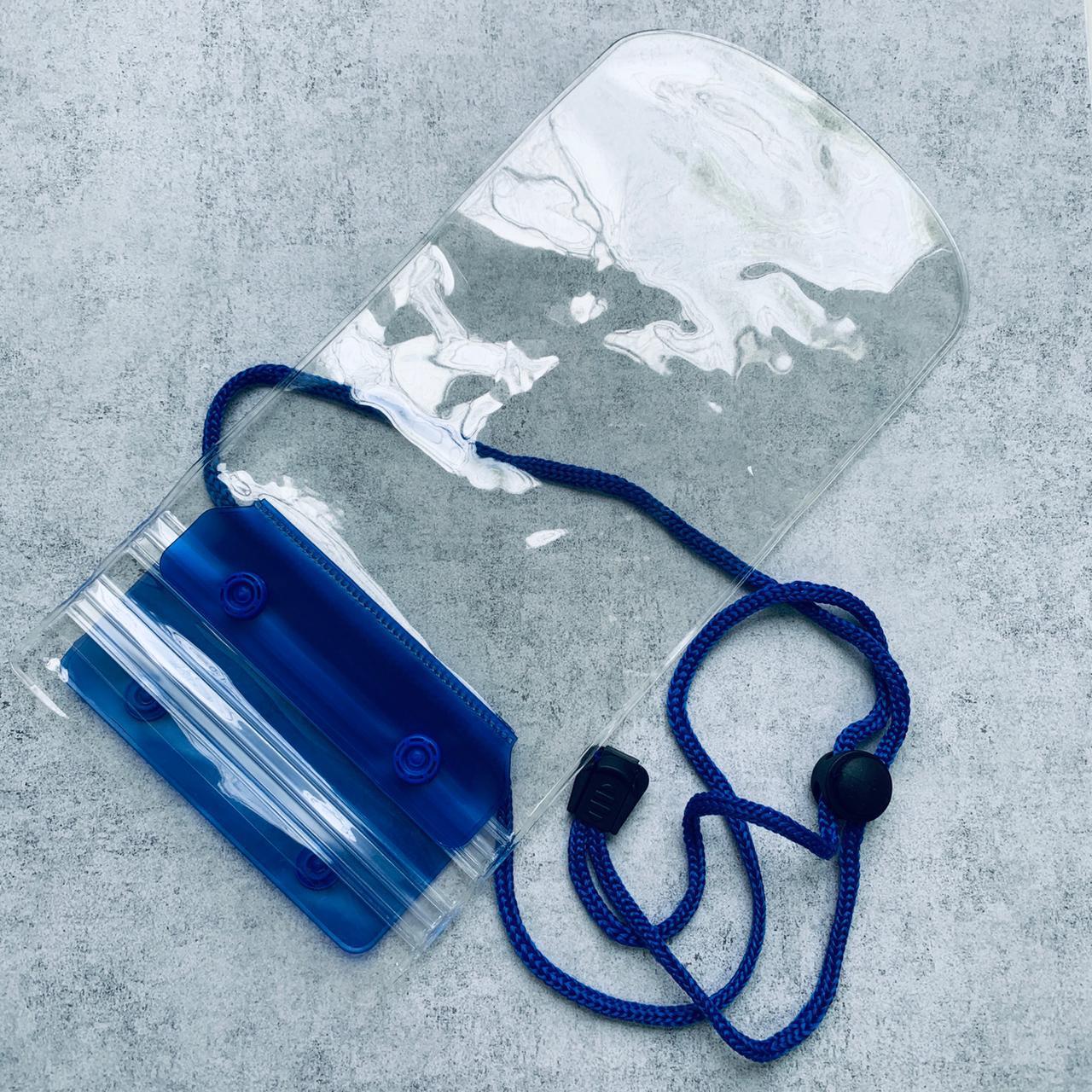 Водонепроницаемый чехол для смартфонов  19*12 см Синий
