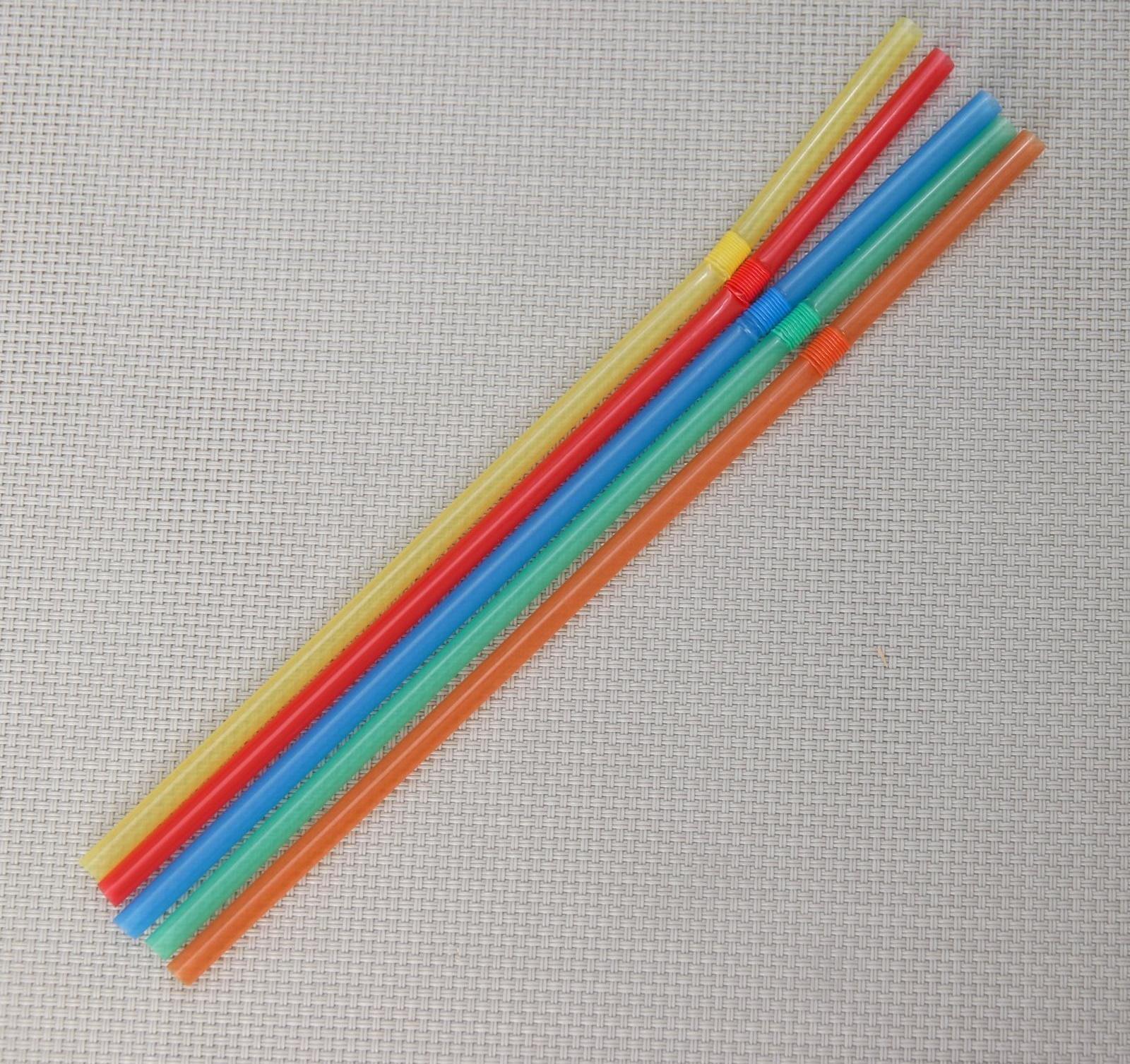 Трубочки для коктейля 5*210 мм, 45 шт