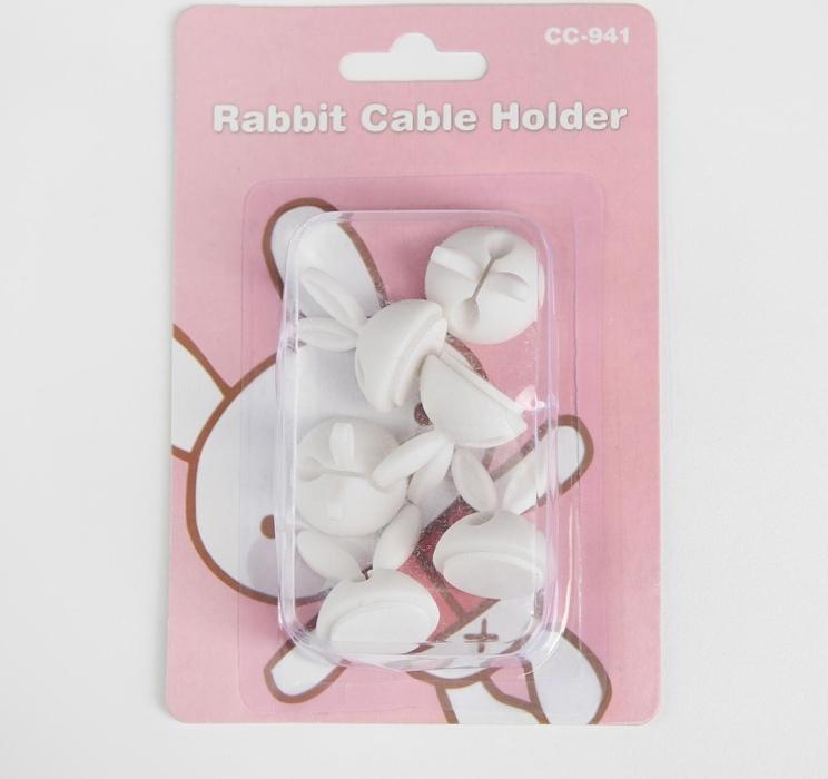 """Держатель-зажим для провода""""Ушки кролика"""" 6 штук"""