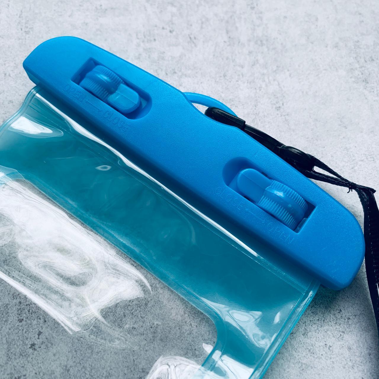 Водонепроницаемый чехол для телефона, размер 20*10.5 см Голубой
