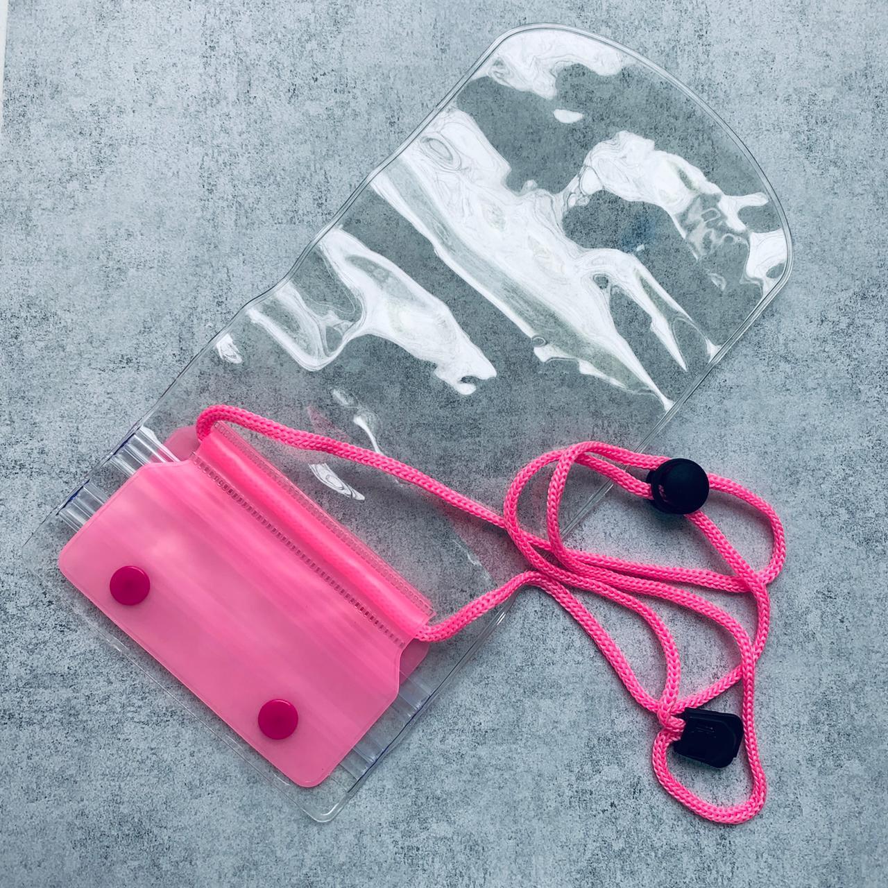 Водонепроницаемый чехол для смартфонов  19*12 см Розовый