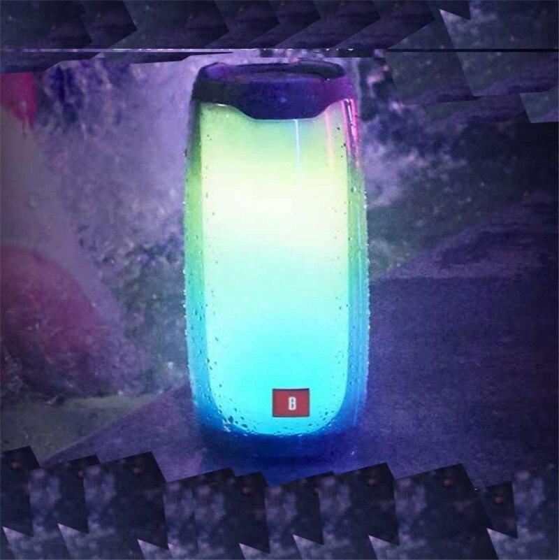 Портативная светящаяся Bluetooth колонка Синяя