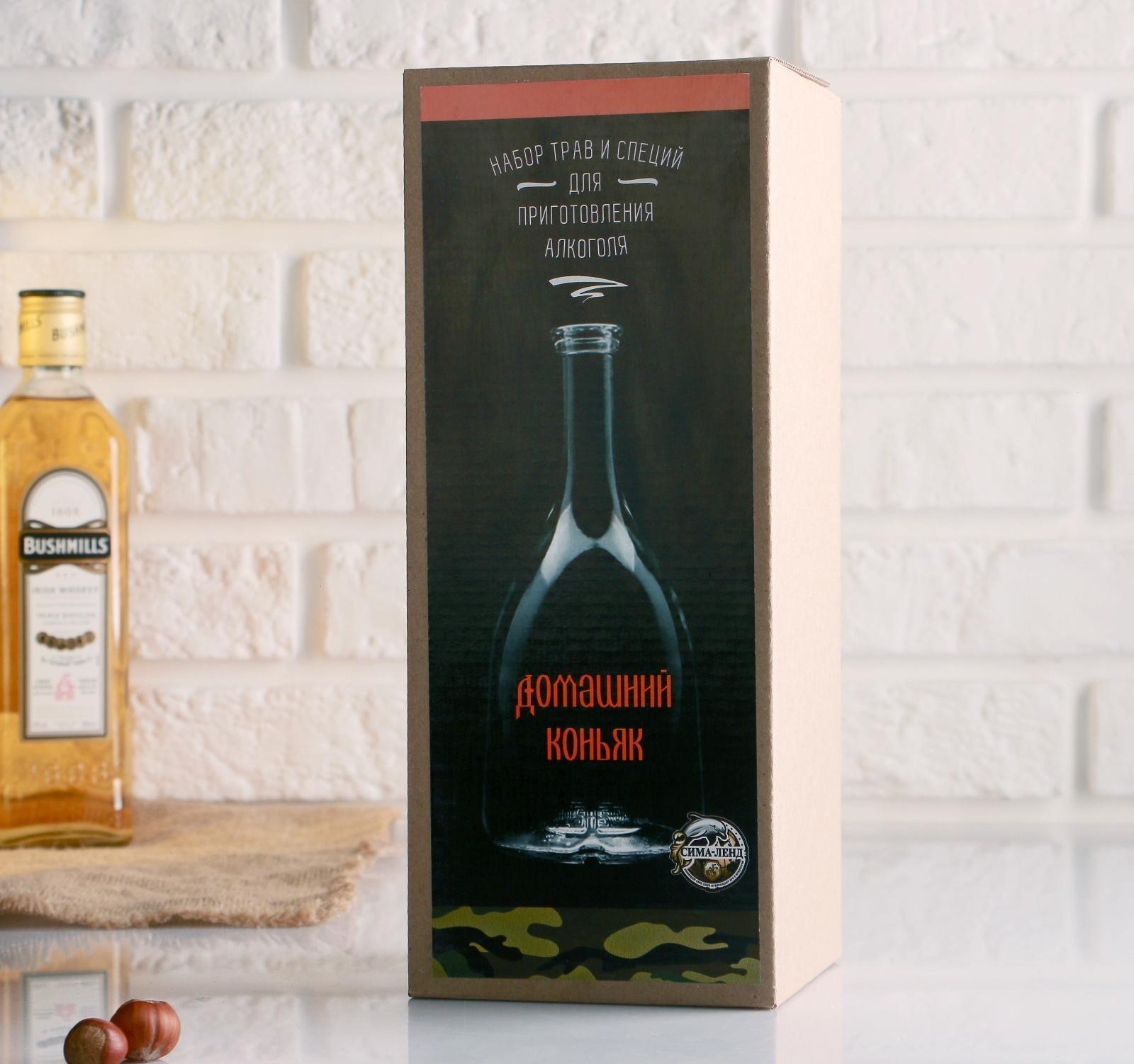 Набор для приготовления домашнего коньяка, бутылка 1 л., набор приправ