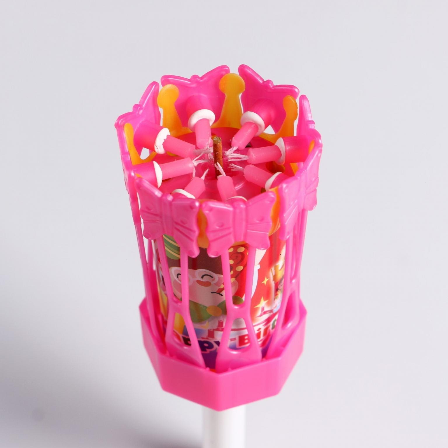 Свеча восковая для торта музыкальная Цветок