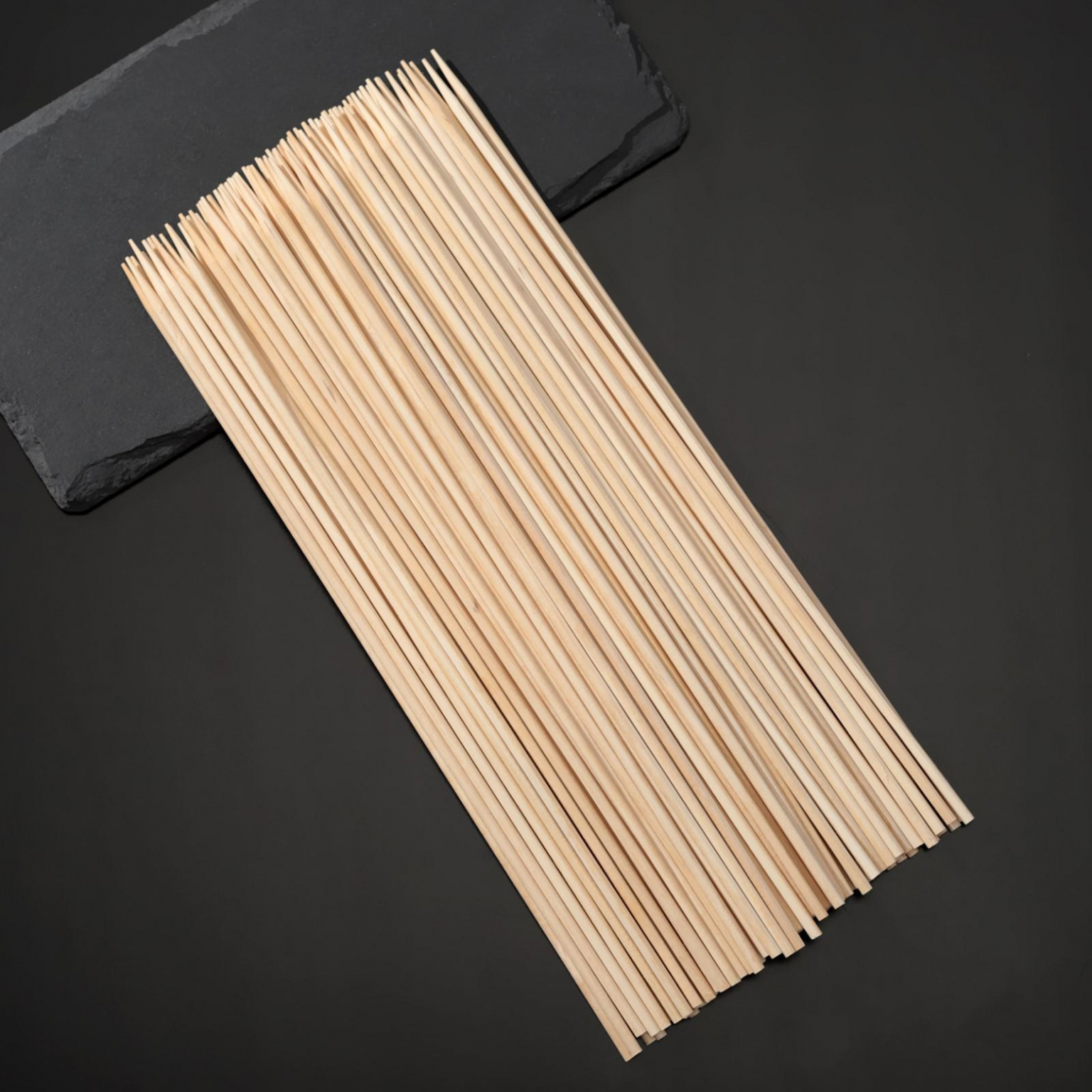 Шампуры деревянные Grifon берёза, 25 см, 100 шт в упаковке