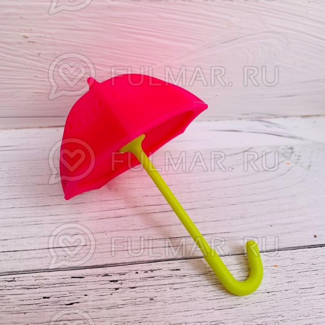 Розовый зонтик ситечко для чая
