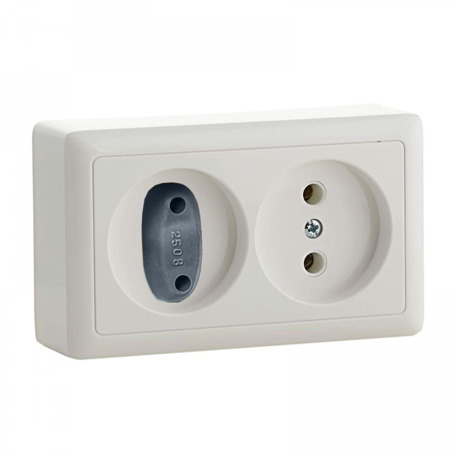 Заглушка для электрических розеток комплект 6 шт, цвет серый