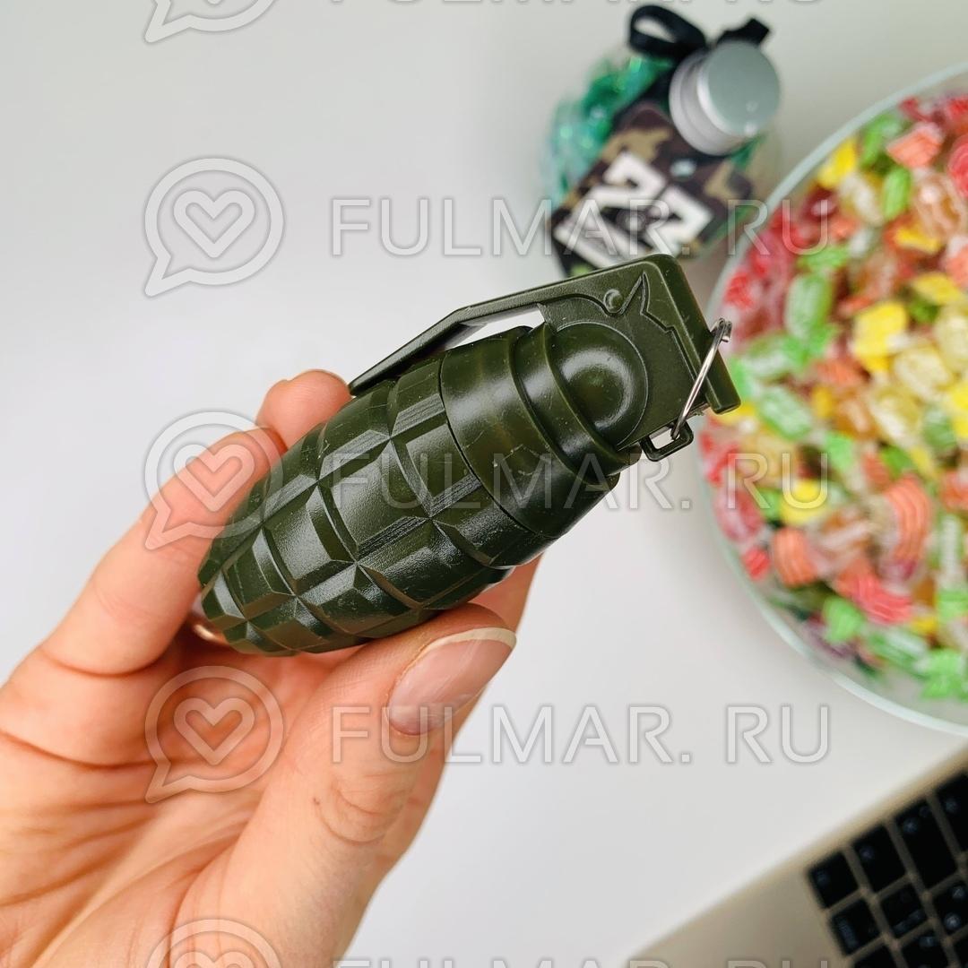 Ручка шариковая-прикол «Граната Зелёная» раздвижная 12 см