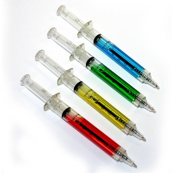 Ручка Шприц шариковая с жидкостью  1 штука