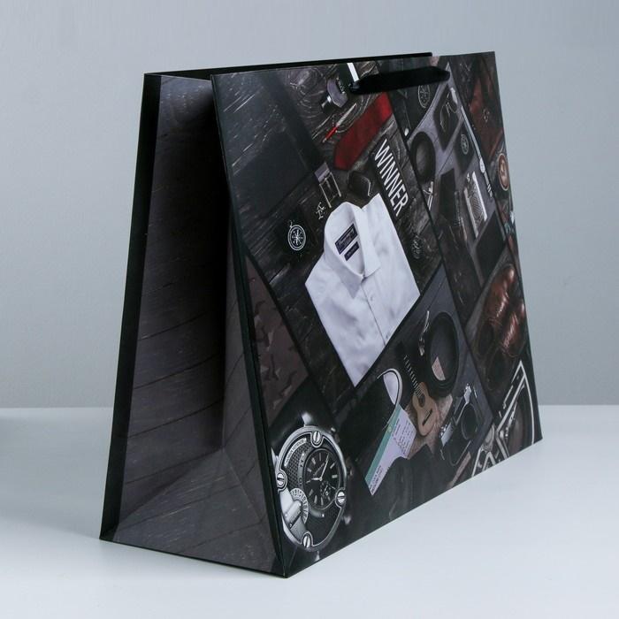 Пакет большой подарочный Стильный мужской набор  49  40  19 см