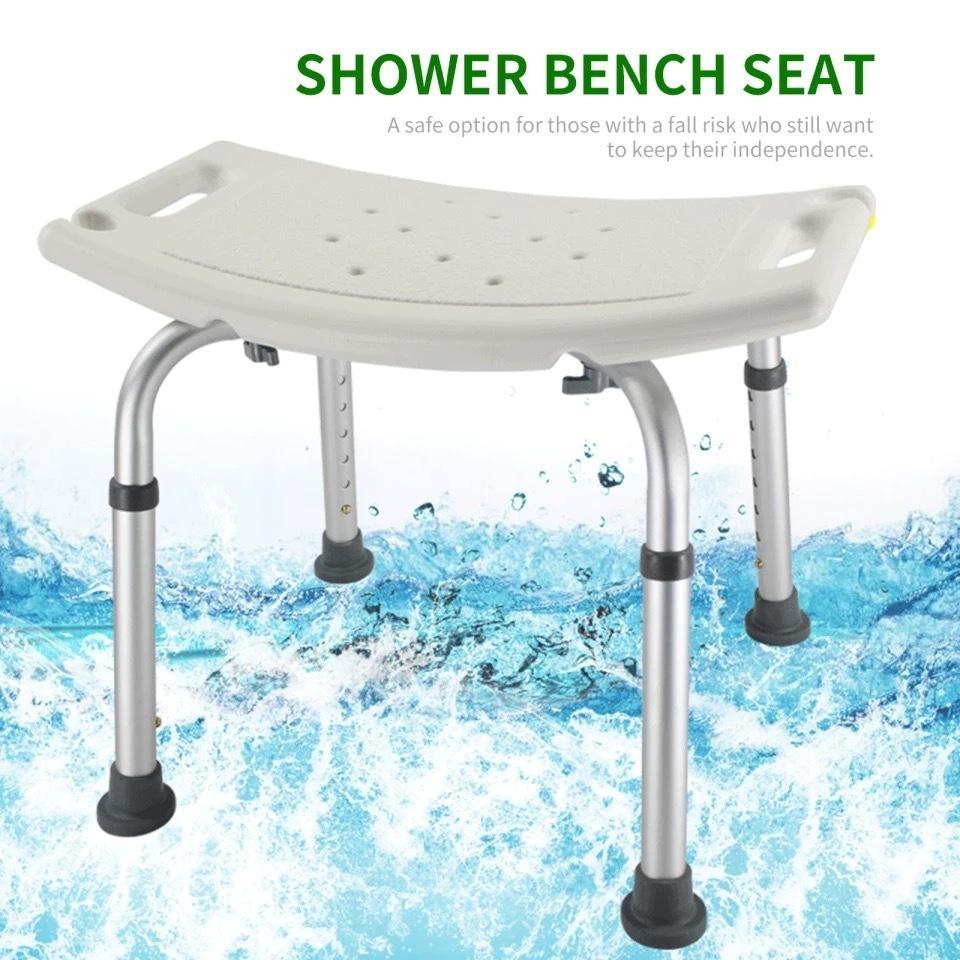 Стул-сидение со спинкой для купания в ванной и душе меняющий высоту