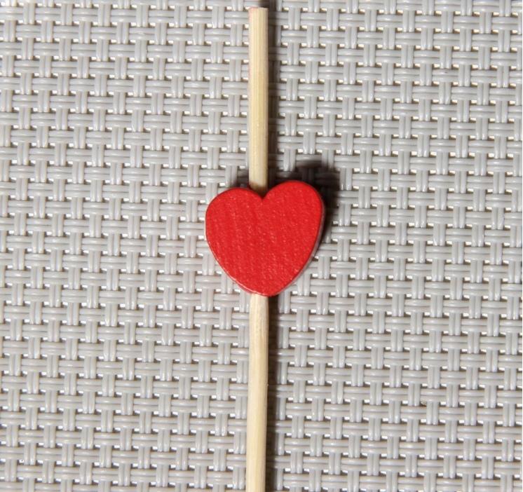 Шпажки Пылкое сердце, 12 см, набор 25 шт