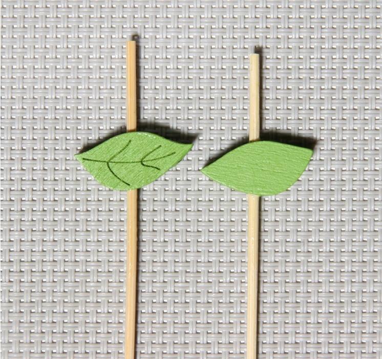 Шпажки Тропический лист, 12 см, набор 25 шт