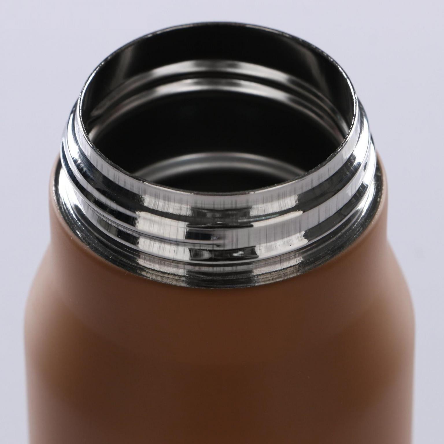 """Термос """"Пуля"""", 350 мл, цвет золотистый-коричневый"""