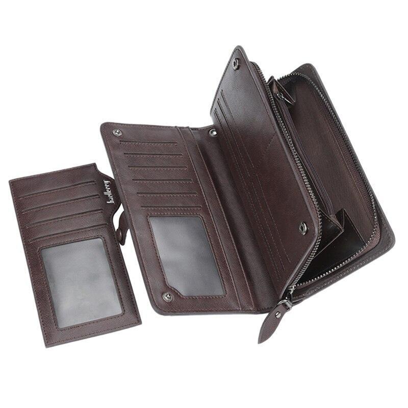 Мужской клатч портмоне 12 в 1 Темно-Коричневый