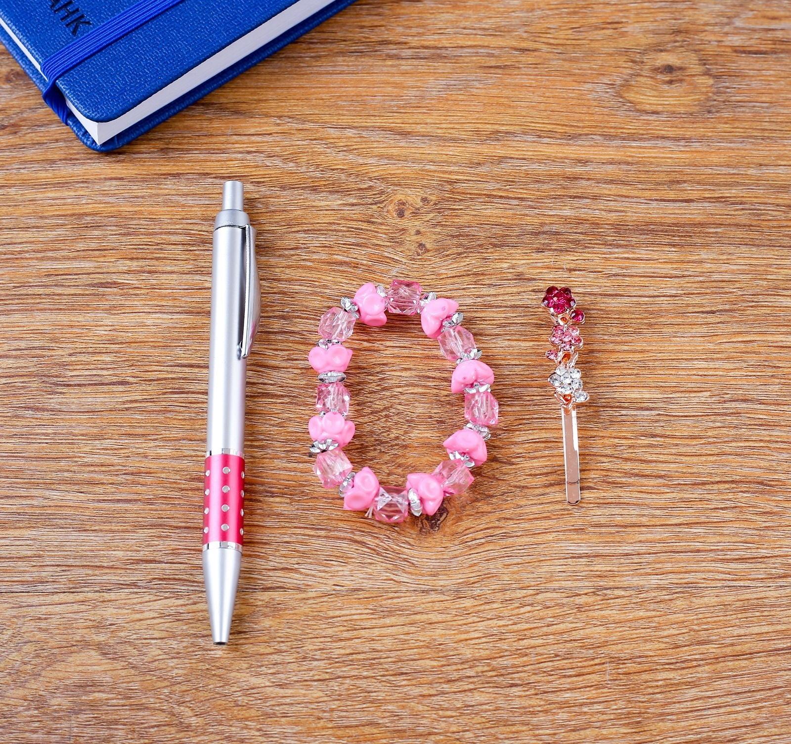 Набор подарочный 3в1 (ручка, браслет, заколка)