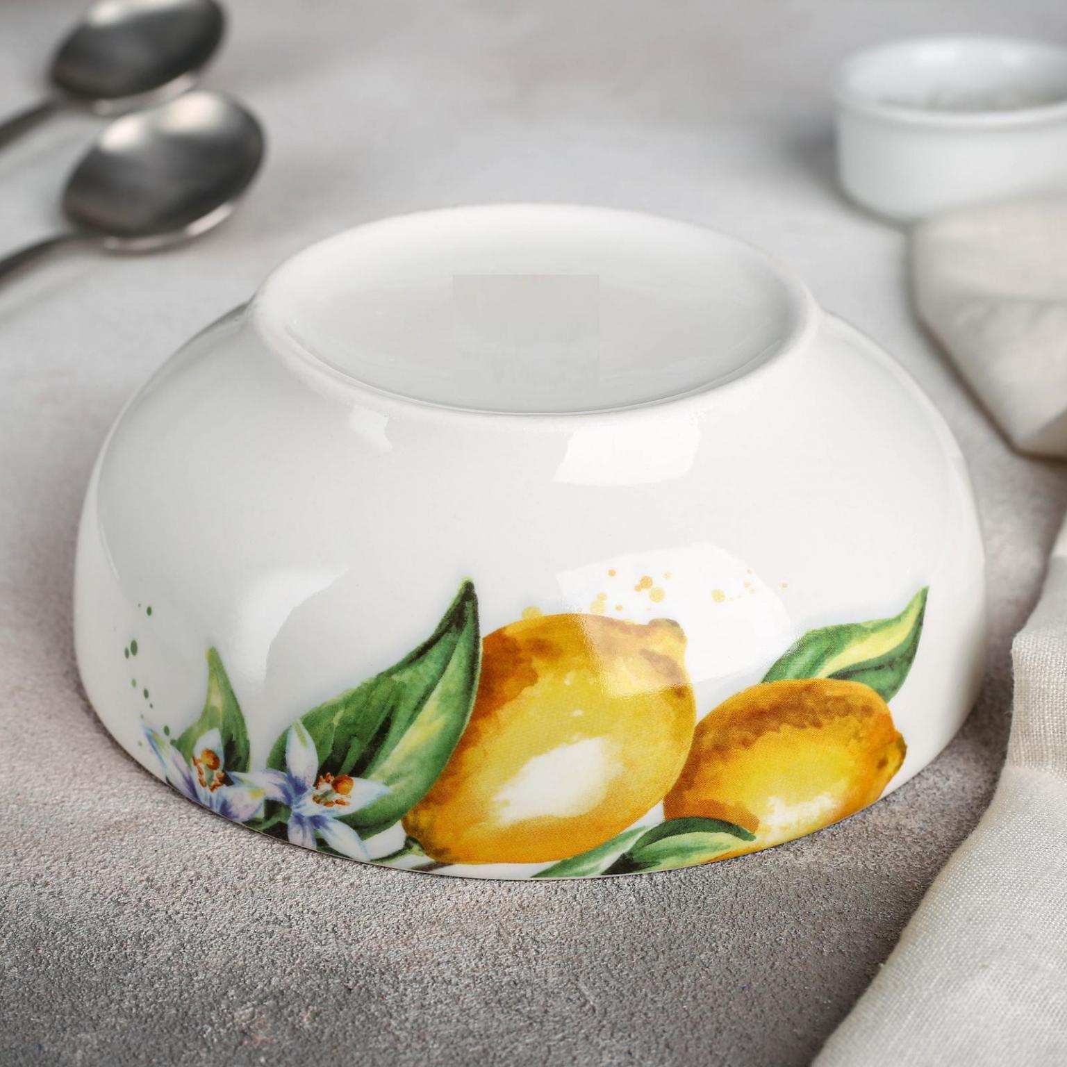 Салатник Лимон, диаметр 15,5 см