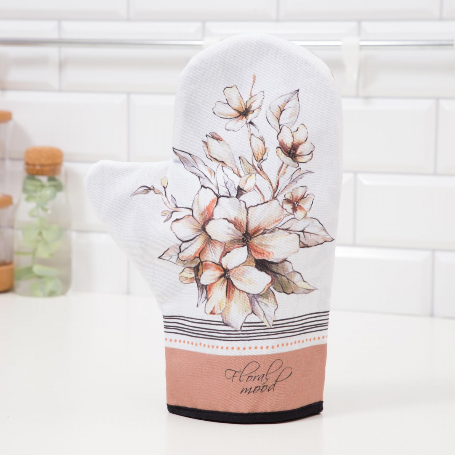 Варежка-прихватка Floral mood 20*28см,  саржа