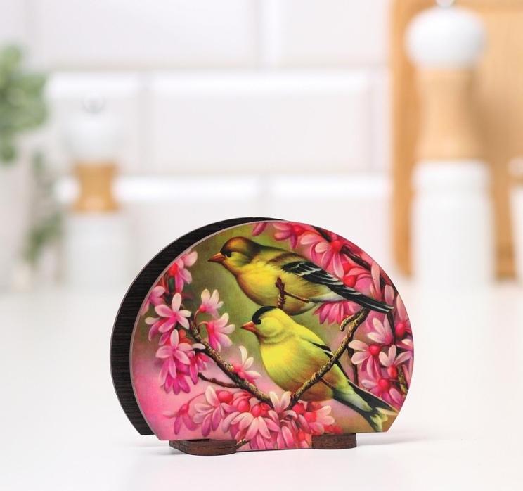 Салфетница Весенние птички, 13*10*5 см