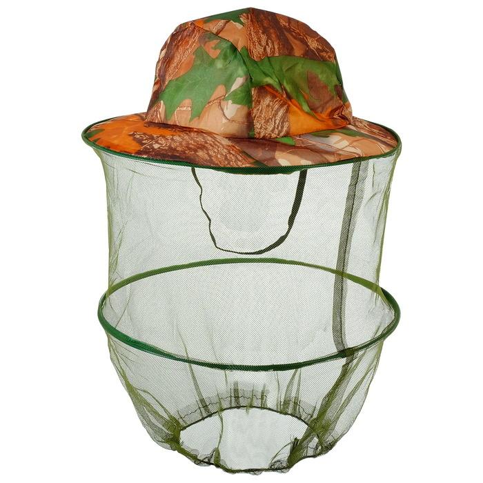 Антимоскитная камуфляжная шляпа Накомарник лес