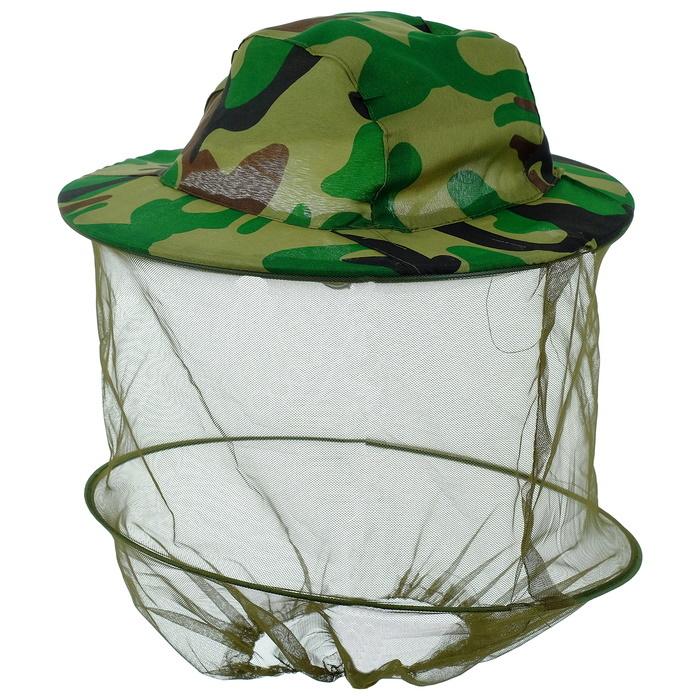 Антимоскитная камуфляжная шляпа Накомарник Хаки
