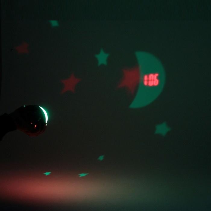 """Будильник часы светильник  """"Звездная сфера белый"""""""