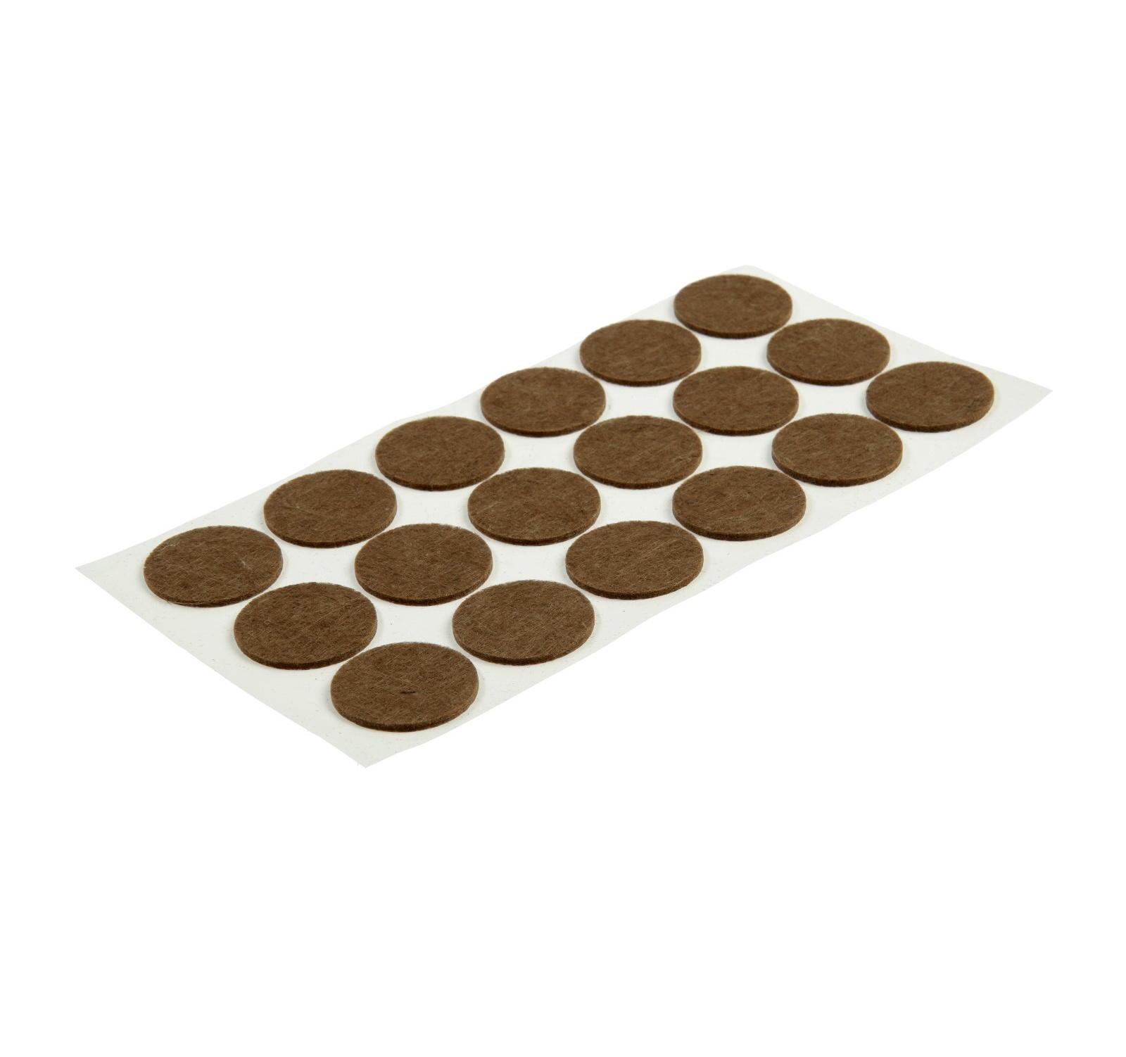 Подпятник войлочный d=35 мм, 18 шт., коричневый.