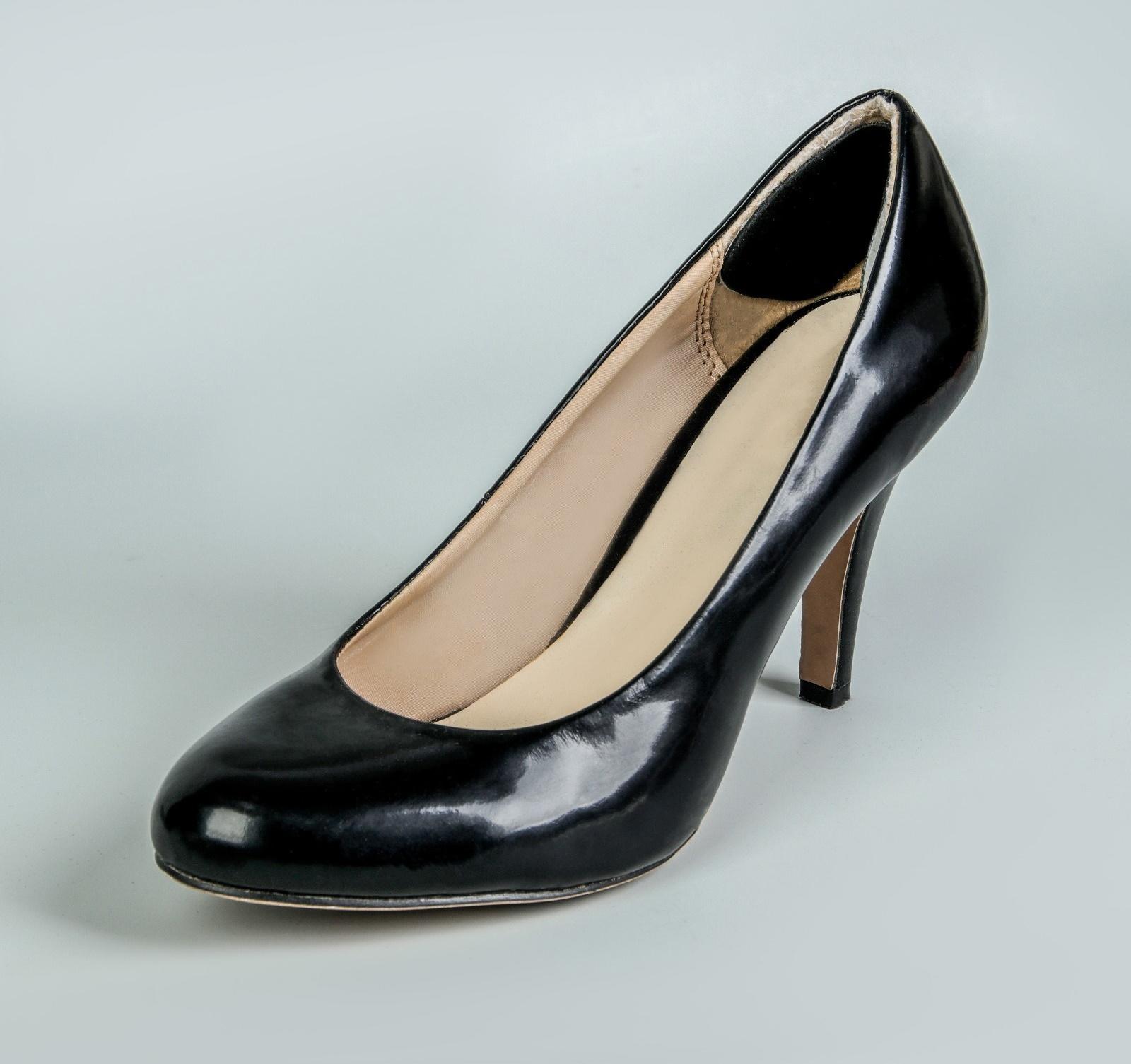 Пяткоудерживатели для обуви, кожаные, на клеевой основе, пара, цвет чёрный