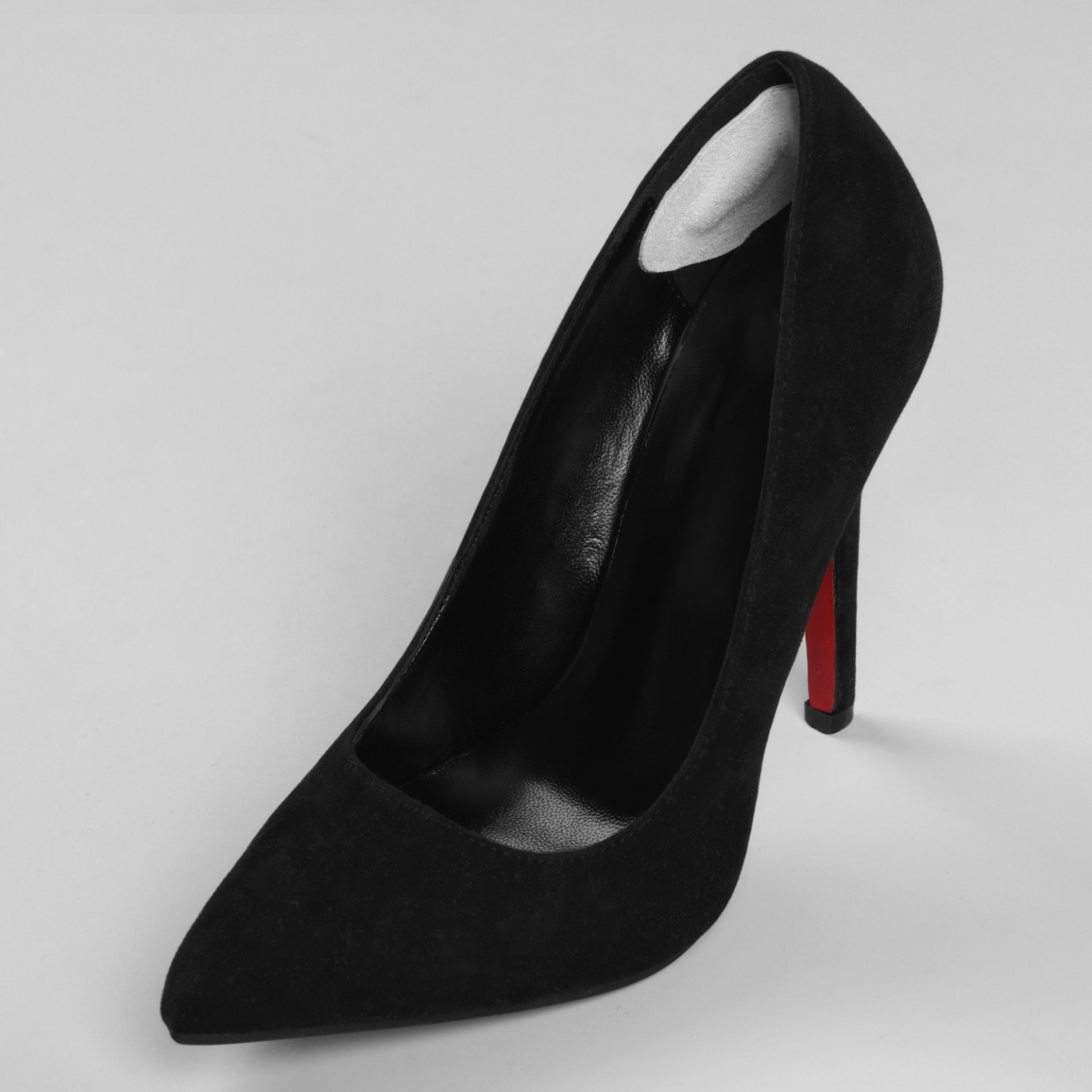 Пяткоудерживатели для обуви, кожаные, на клеевой основе, пара, цвет белый