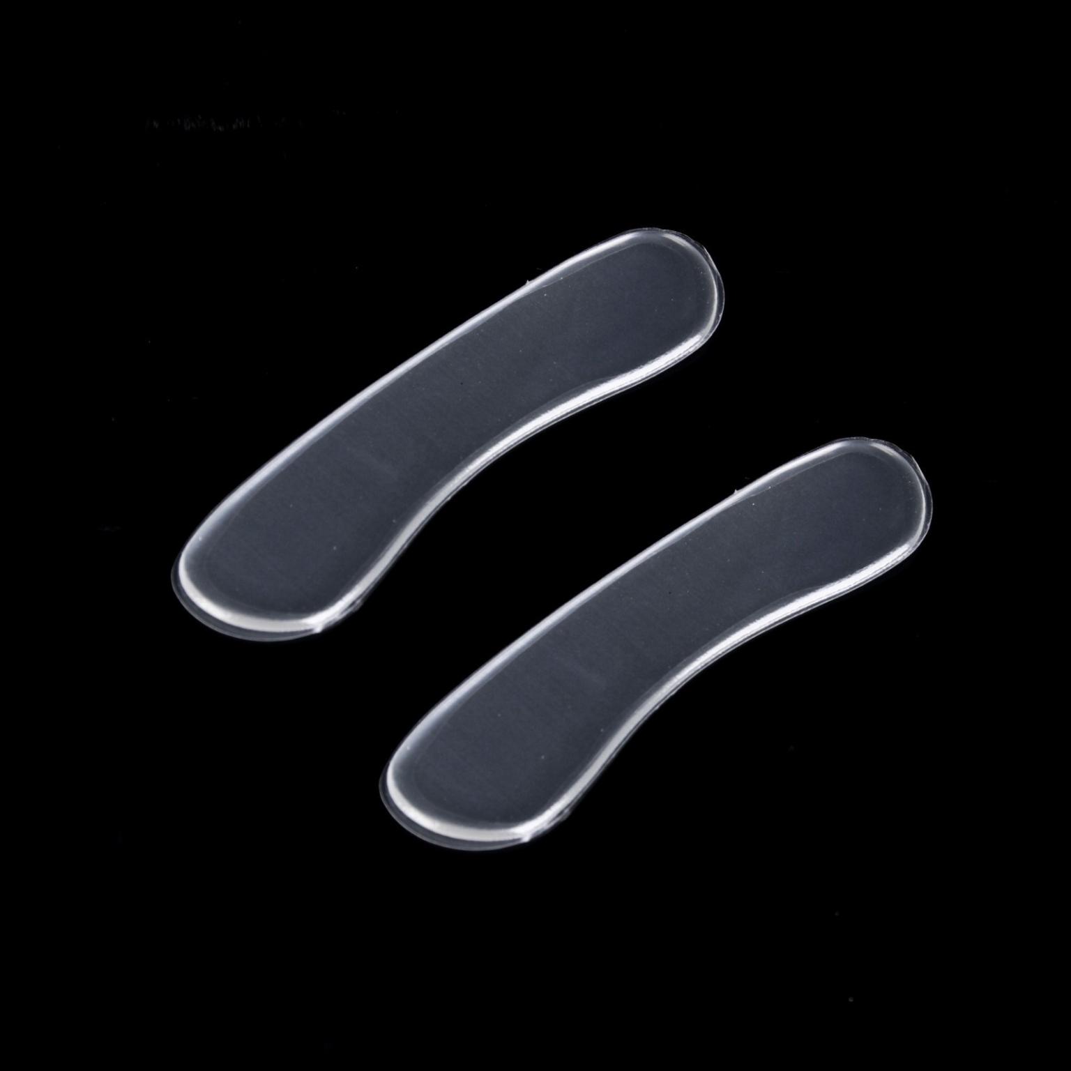Пяткоудерживатели для обуви, клеевая основа, силиконовые, 9,5  2,5 см, пара, цвет прозрачный