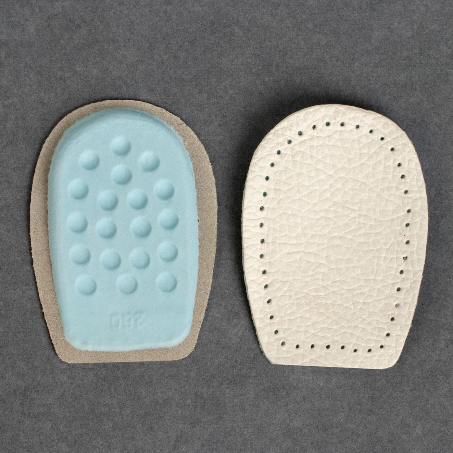 Подпяточники для обуви кожаные, 10*6,5 см, пара, цвет бежевый