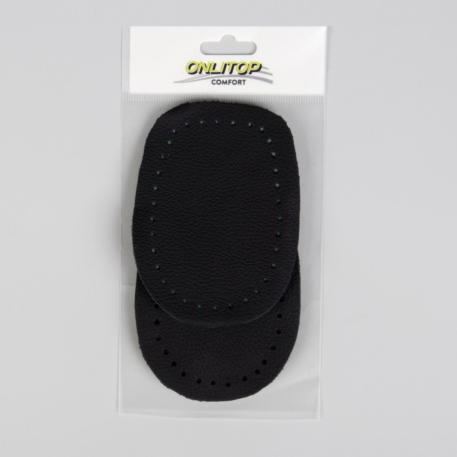 Подпяточники для обуви, 10  7 см, пара, цвет чёрный