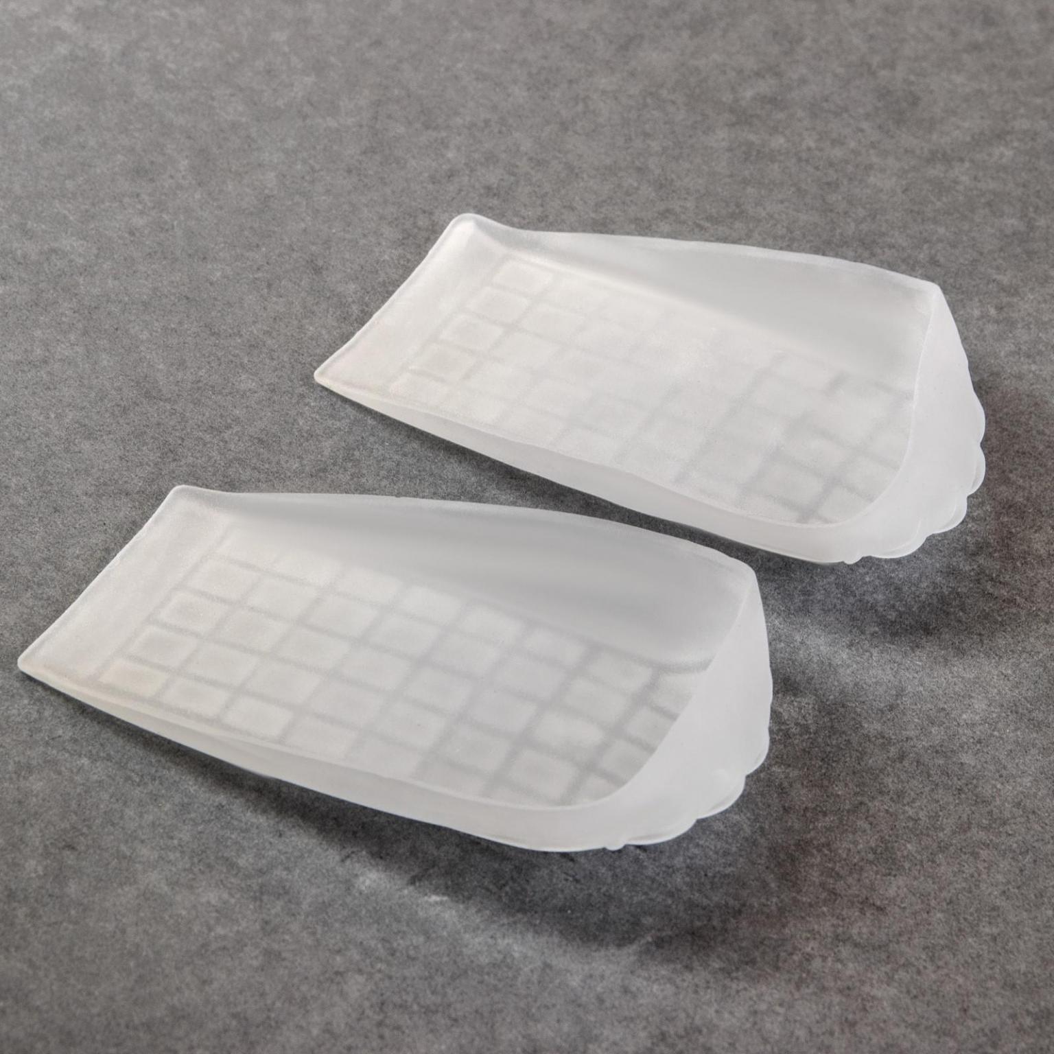 Подпяточники для обуви, силиконовые, 12*7,5 см, пара, цвет белый