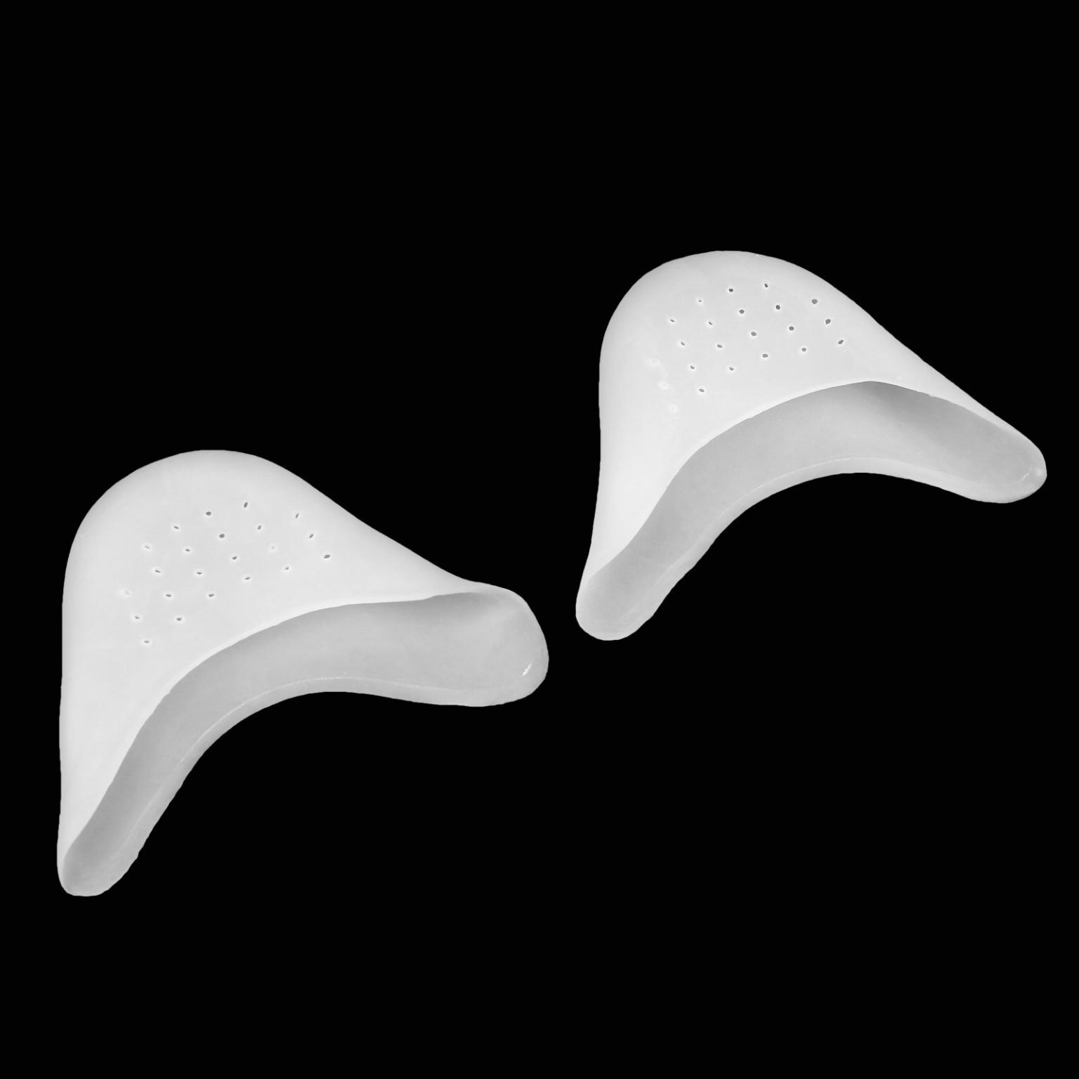 Подследники на пальцы, дышащие, силиконовые, 9*9 см, пара, цвет белый